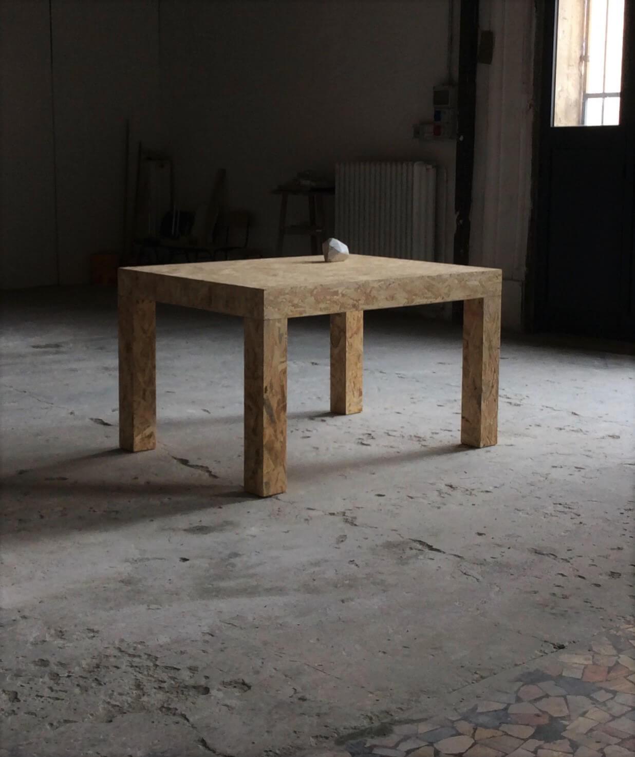 Federico Branchetti - Sculture - Genesi, legno, marmo e cassa audio 2017