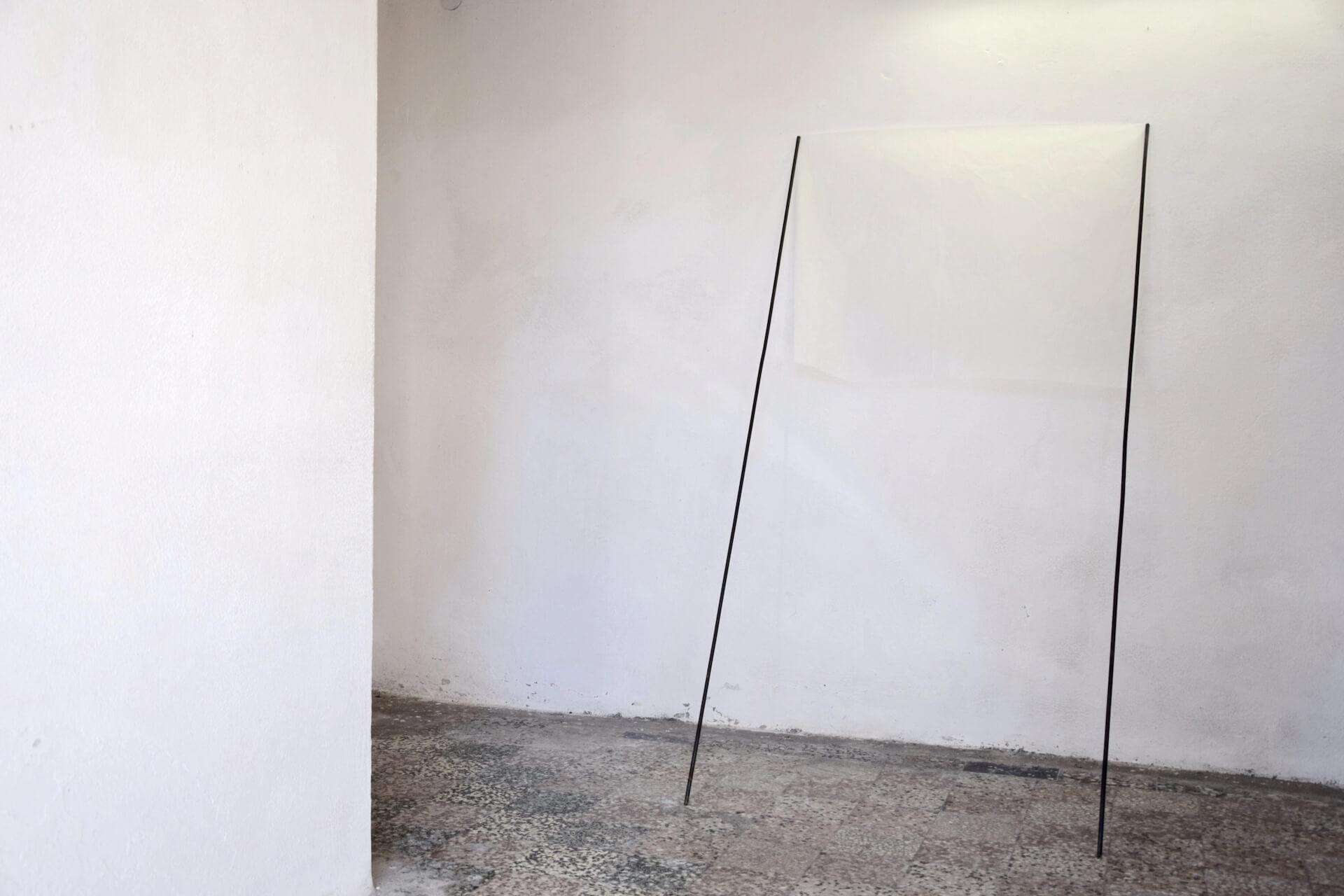 Federico Branchetti - Sculture - Nuvola, carta di riso e tondini di ferro, 2018